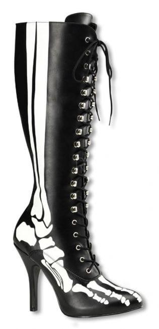 Skelett Stiefel mit Schnürung 36 UK 5 US 7