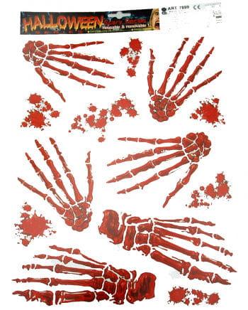 Skeletthand Aufkleber Set