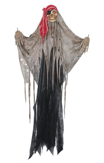 Pirate Skull black curtain