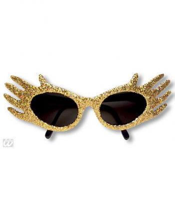 Space Jam Glitter Sonnenbrille Gold