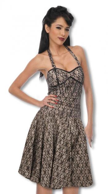 Lace halter dress in cream color