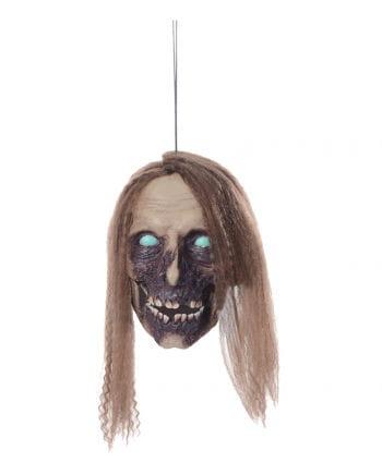 Sprechender Zombie-Schädel mit Haaren