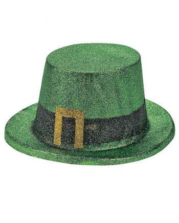Green glitter top hat