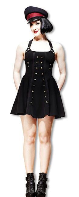 Steampunk dress in uniform look