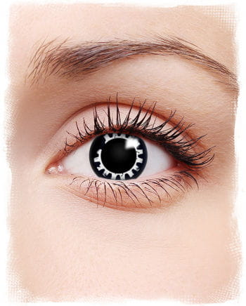 Steampunk Contact Lenses Black White