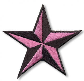Star Patch black pink