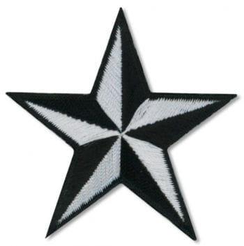 Stern Aufnäher Schwarz Weiss