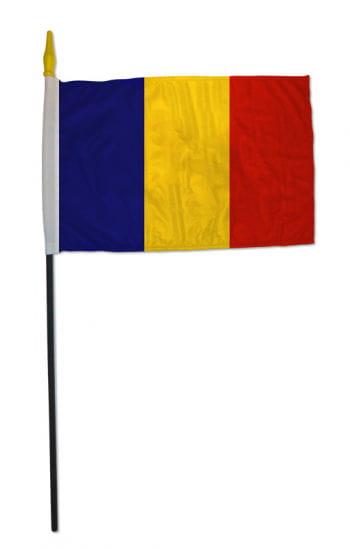 Stockflagge Rumänien klein