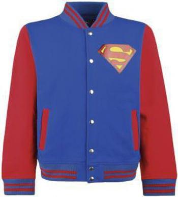 Superman College Jacke Blau