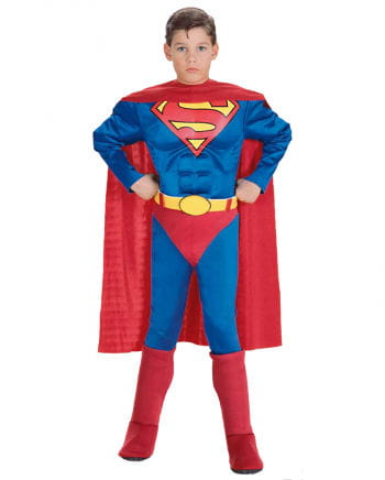 Superman costume with muscle breastplate