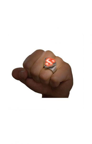 Superman metal ring with LED
