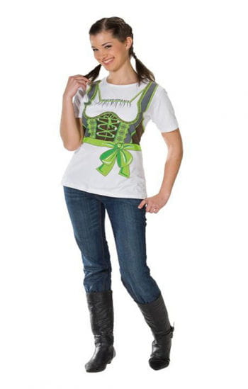T-Shirt Dirndl grün Plus Size