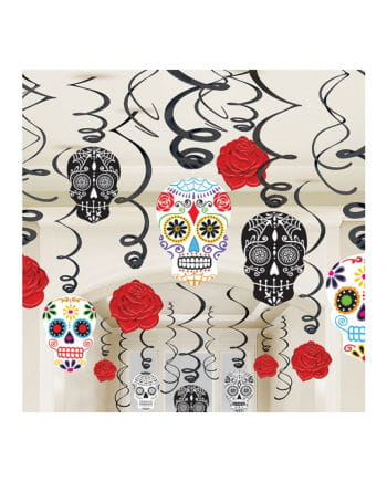 Day of the Dead Hanging Decoration Set 30 pcs.
