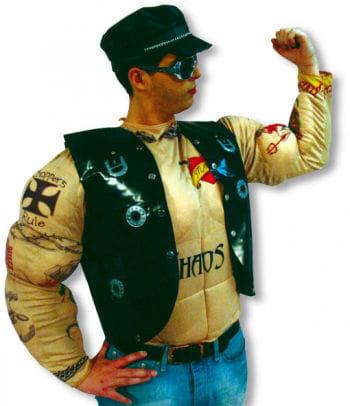 Tattoo Rocker Muskelshirt Kostüm