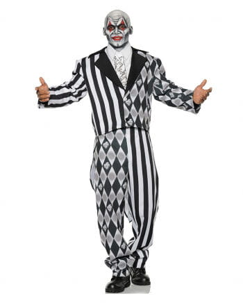 Böser Harlekin Kostüm schwarz-weiß