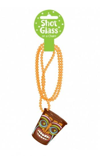 Tiki Shot Glass with chain