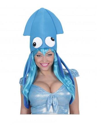 Tintenfisch Hut Blau