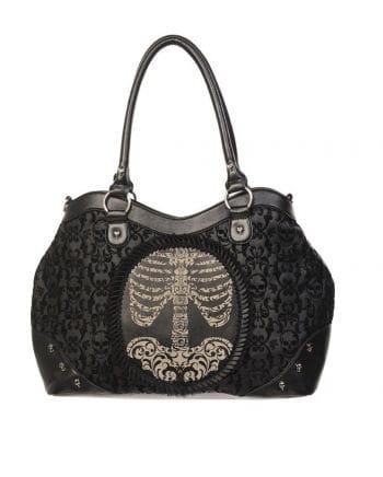 Totenkopf Handtasche mit Kamee-Skelett