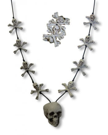 Skull Necklace and Bracelet