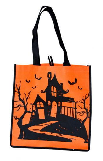 Trick or Treat Stofftasche  mit Hexenhäuschen