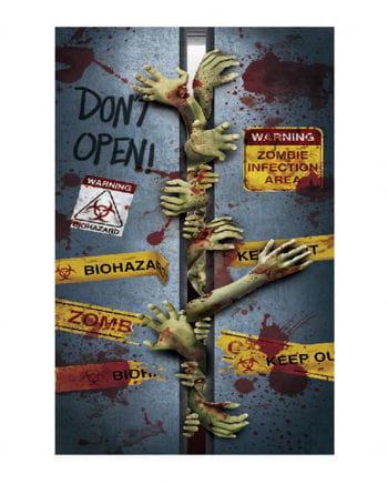 Halloween Türfolie - Zombies im Lift