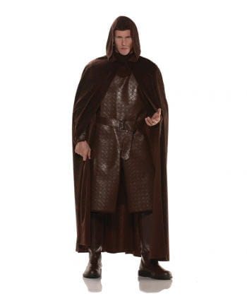 Cloak in suede-look brown