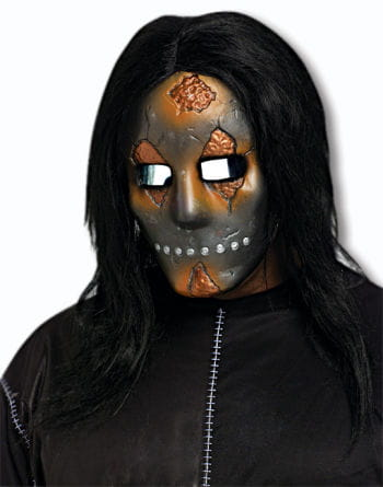 Unheimliche Doll Face Halbmaske Metallic