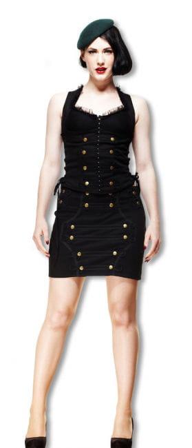 Uniform skirt with peplum
