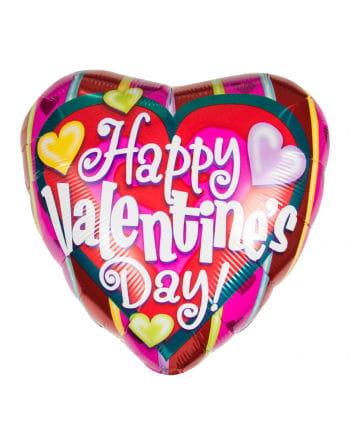 Kunterbunter Happy Valentins Day Folienballon