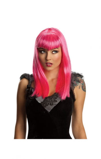 Vampire glitter pink wig