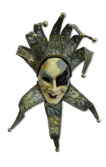 Venezianische Maske Joker grün/gold