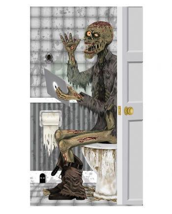 Skeleton motif bathroom door decoration film