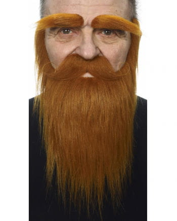 Beard with mustache and eyebrows Copper Brown