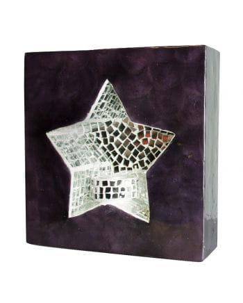 Wall light mosaic star purple / gray