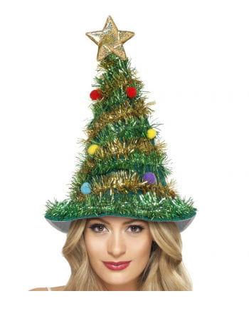 Weihnachtsbaum Hut mit Lametta