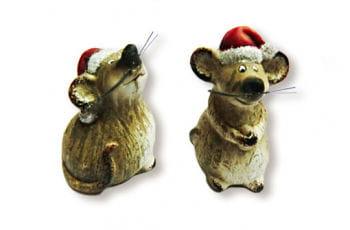 Weihnachtsmaus mit Mütze
