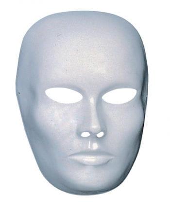 Weiße Gesichts Maske geschlossener Mund