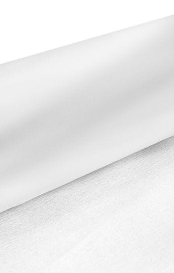 Niflamo decorative crepe white 10 m