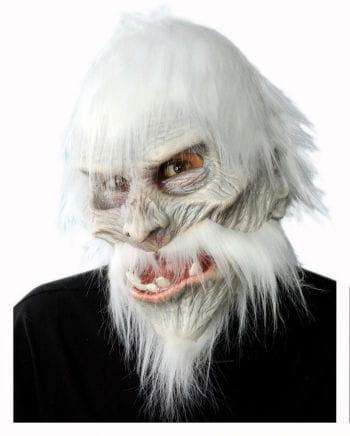 White Warrior Maske mit Haaren