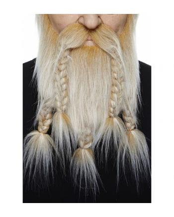 Wikinger Kombi Bart blond grau meliert
