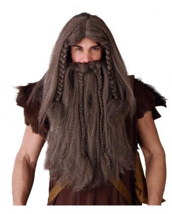 Viking Wig Beard combination