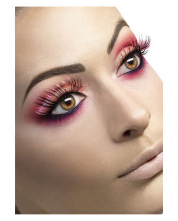 Wimpern Schwarz Pink