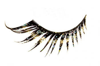 Eyelashes Black with Glitter
