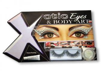 Xotic Eyes Rhinestones White