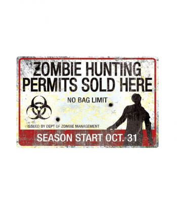 Zombie hunting ground metal plate