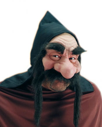 Dwarf half mask with a black beard