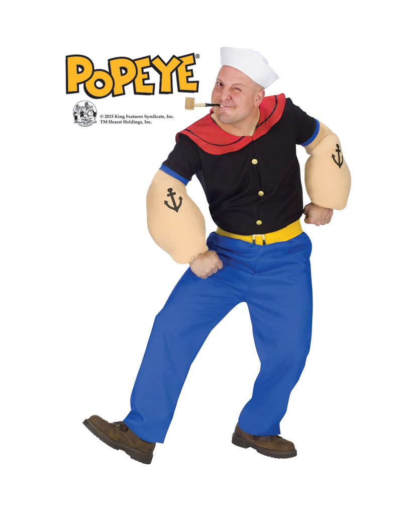 original popeye kost m ml verkleide dich als popeye der seemann horror. Black Bedroom Furniture Sets. Home Design Ideas