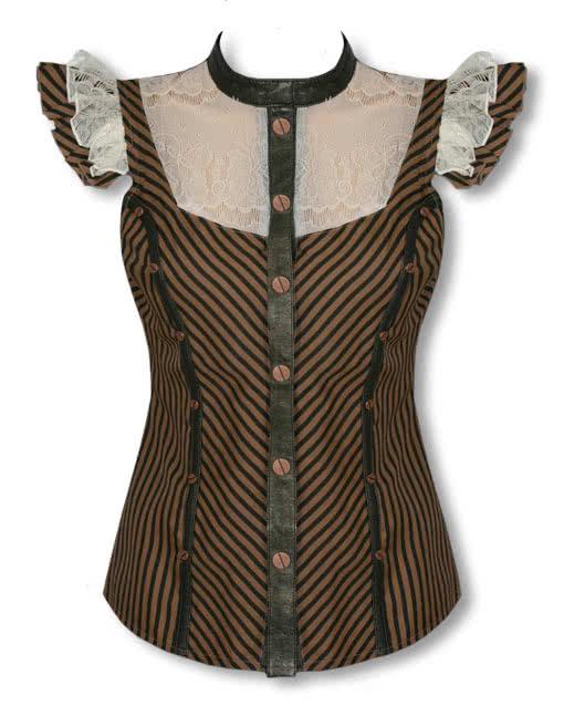 steampunk bluse mit spitze spitzenbluse viktorianisch. Black Bedroom Furniture Sets. Home Design Ideas