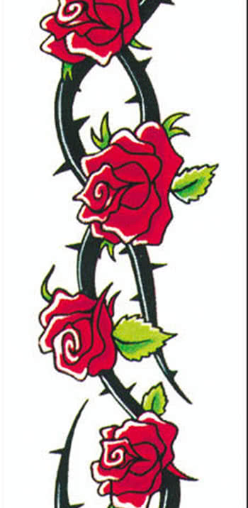 Tattoo Roses And Thorn Wreath Buy Adhesive Tattoos Horror Shopcom