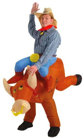 Inflatable Bullrider Cowboy Costume  sc 1 st  Horror-Shop.com & Inflatable Bullrider Cowboy Costume Inflatable Costumes Cowboy ...